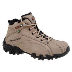Coturno Adventure Masculino Em Couro Cor Cinza 429... - Sapatos de Franca