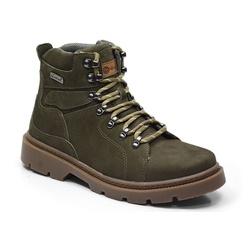 Coturno Adventure Masculino Em Couro Cor Verde Mil... - Sapatos de Franca