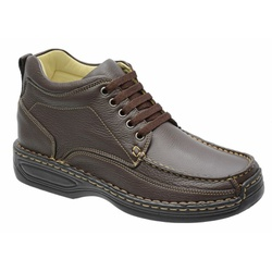 Coturno Conforto Em Couro Legitimo Na Cor Brown Re... - Sapatos de Franca