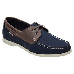 Docksider Masculino Em Couro Cor Azul Marinho Ref.... - Sapatos de Franca