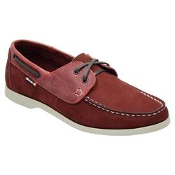 Docksider Masculino Em Couro Cor Vermelho Ref. 104... - Sapatos de Franca