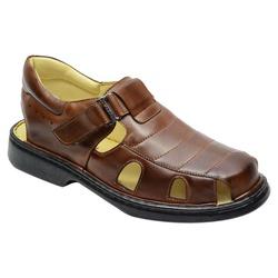Sandália Conforto Em Couro Cor Mouro Ref 715-3010 - Sapatos de Franca