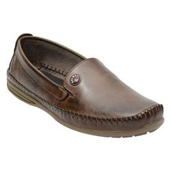Sapatilha Masculina Em Couro Cor Café Ref. 1031-76... - Sapatos de Franca