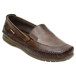 Sapatilha Masculina Em Couro Cor Café Ref. 1035-76... - Sapatos de Franca