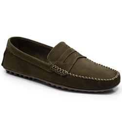 Sapatilha Masculina Em Couro Cor Café Ref. 641-500... - Sapatos de Franca