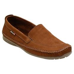 Sapatilha Masculina Em Couro Cor Castor Ref. 1032-... - Sapatos de Franca