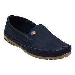Sapatilha Masculina Em Couro Cor Marinho Ref 1028-... - Sapatos de Franca