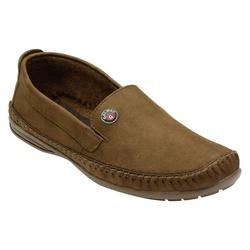Sapatilha Masculina Em Couro Cor Musgo Ref 1029-76... - Sapatos de Franca