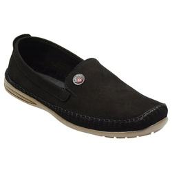 Sapatilha Masculina Em Couro Cor Preto Ref. 1030-7... - Sapatos de Franca