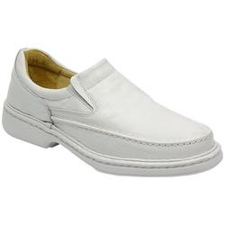 Sapato Conforto Em Couro Cor Branco Ref. 739-2001 - Sapatos de Franca