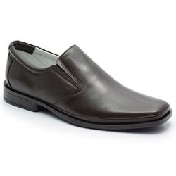 Sapato Conforto Em Couro Cor Cafe Ref. 579-2002 - Sapatos de Franca
