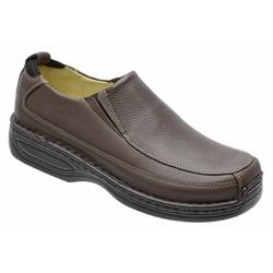 Sapato Conforto Em Couro Legitimo Na Cor Brown Ref... - Sapatos de Franca
