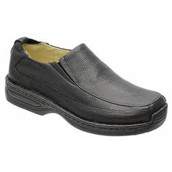 Sapato Conforto Em Couro Legitimo Na Cor Preto Ref... - Sapatos de Franca