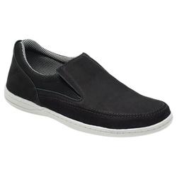 Sapato Masculino Comfort Sportive Em Couro Cor Pre... - Sapatos de Franca
