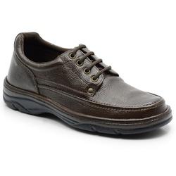 Sapato Masculino Em Couro Cor Cafe Ref. 560-2020 - Sapatos de Franca