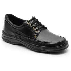 Sapato Masculino Em Couro Na Cor Preto Ref. 559-20... - Sapatos de Franca