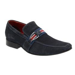 Sapato Social Camurça Marinho Solado Em Couro Ref.... - Sapatos de Franca