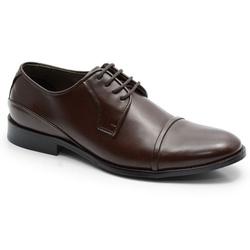 Sapato Social Classico Em Couro Cafe Ref. 567-1575 - Sapatos de Franca