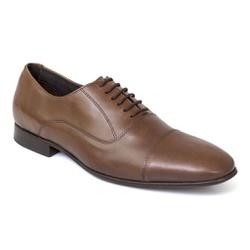 Sapato Social Clássico Em Couro Cor Moura Ref. 138... - Sapatos de Franca