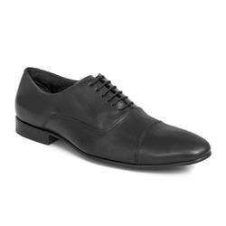 Sapato Social Clássico Em Couro Cor Preto Ref. 138... - Sapatos de Franca