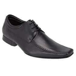 Sapato Social Tipo Italiano Em Couro Cor Preto Ref... - Sapatos de Franca
