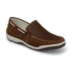 Sider Conforto Em Couro Cafe Ref. 1286-6008 - Sapatos de Franca