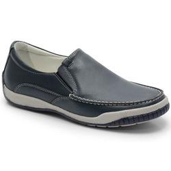 Sider Conforto Em Couro Chumbo Ref. 593-6000 - Sapatos de Franca