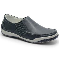 Sider Conforto Em Couro Cor Chumbo Ref. 592-6011 - Sapatos de Franca