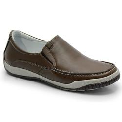 Sider Conforto Em Couro Marrom Ref. 584-6000 - Sapatos de Franca