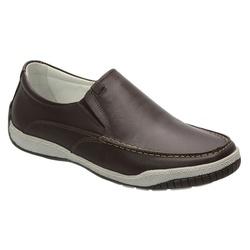 Sider Conforto Em Couro Na Cor Brown Ref. 1121-600 - Sapatos de Franca