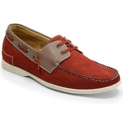 Sider Masculino Em Couro Vermelho Ref. 935-19520 - Sapatos de Franca