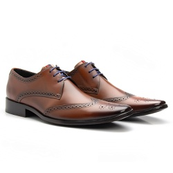 Sapato Brogue Orange - Sapatos de Franca