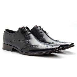 Sapato Brogue Preto - Sapatos de Franca