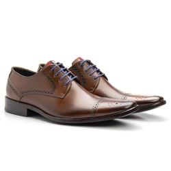 Sapato Brogue Cromo Whisky - Sapatos de Franca