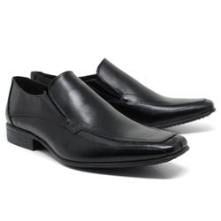 Sapato Social em Couro Cor Preto Ref. 1422-667 - Sapatos de Franca
