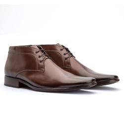 Bota Social Masculina Ankle Boot Cor Mouro - Sapatos de Franca