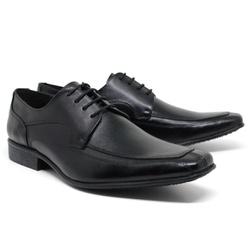 Sapato Social em Couro Cor Preto Ref. 1423-695 - Sapatos de Franca