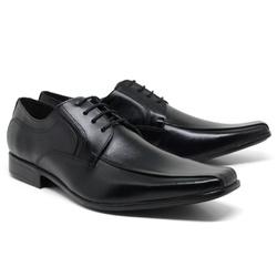 Sapato Social em Couro Cor Preto Ref. 1424-864 - Sapatos de Franca