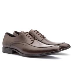 Sapato Brogue Em Couro Ref-2967 Café - Sapatos de Franca