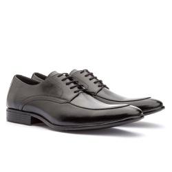 Sapato Brogue Em Couro Ref-2967 Preto - Sapatos de Franca
