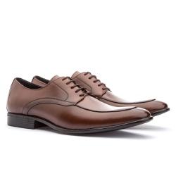 Sapato Brogue Em Couro Ref-2967 Whisky - Sapatos de Franca