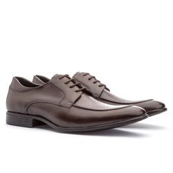 Sapato Brogue Em Couro Ref-2974 Café - Sapatos de Franca