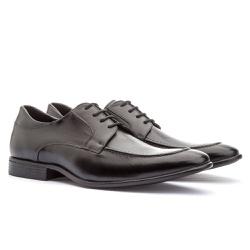 Sapato Brogue Em Couro Ref-2974 Preto - Sapatos de Franca