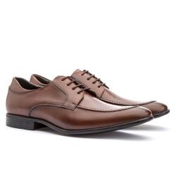 Sapato Brogue Em Couro Ref-2974 Whisky - Sapatos de Franca