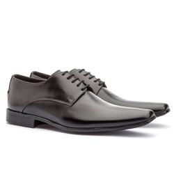 Sapato Social Masculino Fly Em Couro Ref-1004 Pret - Sapatos de Franca