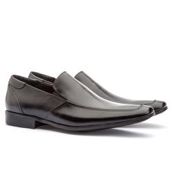 Sapato Social Masculino Fly Em Couro Ref-1014 Pret - Sapatos de Franca