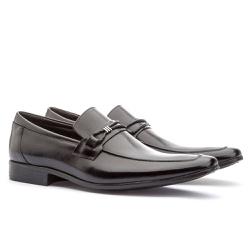 Sapato Social Masculino Fly Em Couro Ref-1029 Pret - Sapatos de Franca