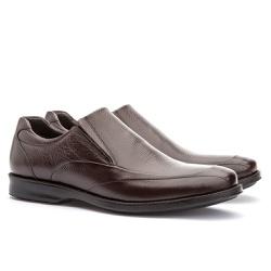 Sapato Social Masculino Gel Light Em Couro Ref-320... - Sapatos de Franca