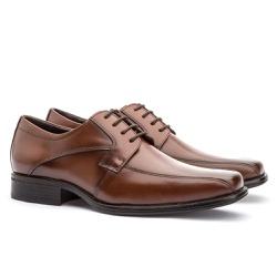 Sapato Social Masculino Kire Gel Em Couro Ref-1175... - Sapatos de Franca