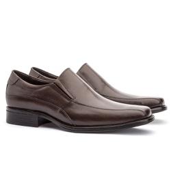 Sapato Social Masculino Kire Gel Em Couro Ref-1176... - Sapatos de Franca